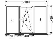 Окна металлопластиковые Kommerling 70 ST отСтимекс&quot