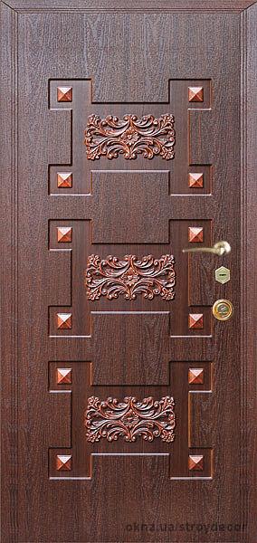 Входные металлические двери с МДФ накладками