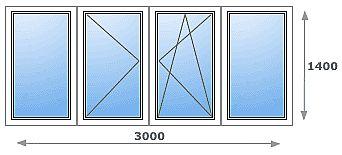 Лоджия 3000-1500