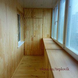 Балкон под ключ в гостинке (брежневке) в киеве. отделка, ....