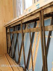 Вынос балкона по подоконнику на Дорогожичах