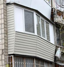Обшивка балкона сайдингом на Левобережке