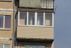 Наружная отделка балкона сайдингом Правый Берег