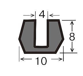 Уплотнитель для алюминиевых систем универсальный под зеркало или стекло 4 мм: