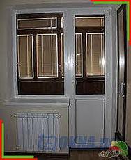 Балконный блок из ПВХ на Виноградаре, для остекления балконов и лоджий. Профиль Евролайн с однокамерным энергосберегающим стеклопакетом фурнитурой Ворне