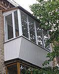 Вынос балкона по перилам с наружной обшивкой недорого