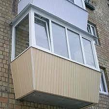 Вынос балкона по подоконнику от пола в Киеве недорого