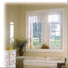 Окно в ванную - красиво, стильно, современно! Профиль ПВХ Pehau, фурнитура МАСО, стеклопакет двухкамерный, размер 0,85х1,35 м (одностворчатое поворотно-откидное).