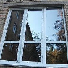 Металлоплаcтиковое окно Almpast - недорого, качественно (Вишневое)