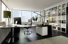 Окно Hoffen в рабочем кабинете - недорого (Вишневое)!