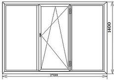 Окно в спальню ALMplast, фурнитура Vorne 2,1х1,6