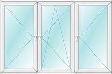 Окно ALMplast, фурнитура Vorne 2,1х1,4