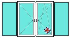 Балкон ALMplast, фурнитура Vorne 3,1x1,5