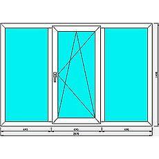 Окно профиль Hoffen -фурнитура Siegenia 1,9x1.4