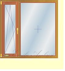 Окно профиль Hoffen -фурнитура Siegenia 1,9x1,5