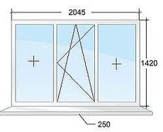 Балкон из профиля Salamander 2d фурнитура MACO 2,4х1,5