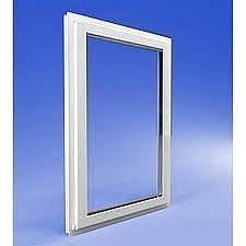 Глухое окно из профиля ALMplast 0,9х1,5 м