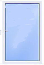 Глухое окно из профиля ALMplast 0,8х1,6 м