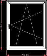 Окно одностворчатое поворотно-откидное REHAU с фурнитурой МАСО и однокамерным стеклопакетом габаритами 1,0х1,5 м