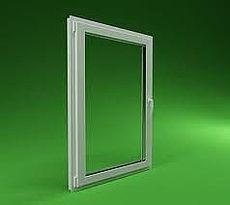 Окно одностворчатое поворотно-откидное Hoffen с фурнитурой Sigenia и однокамерным стеклопакетом габаритами 0,8х0,9 м (Киев)