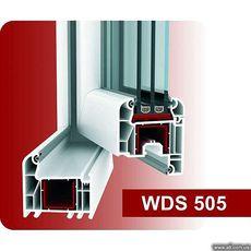 Одинарное пластмассовое окно для спальни из профиля WDS 505 (Украина), с фурнитурой МАСО (Австрия) с однокамерным стеклопакетом 24 мм. Геометрия окна: ширина 0,6 м, высота 1,05 м.