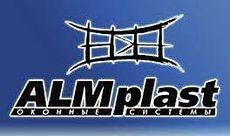 Металлопластиковое окно деленное пополам с глухой и поворотно-откидной половинами из профиля ALMplast (Украина) 1200х1150 (МАСО, 1-кам. стеклопакет) для кухни.