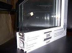 Металлопластиковое окно двухчастное с глухой и поворотно-откидной половинами 1250х1100 м (ALMplast)
