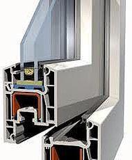 Теплое окно двухстворчатое с глухой и поворотно-откидной створками из профиля ALMplast (Украина) 1250х1350 (МАСО, 1-кам. стеклопакет) для гостиной.