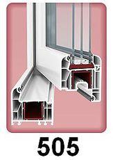 Одностворчатое пластиковое окно для гостиной из профиля WDS 505 (Украина), с фурнитурой МАСО (Австрия) с однокамерным стеклопакетом 24 мм. Размеры окна: ширина 0,65 м, высота 1,25 м.