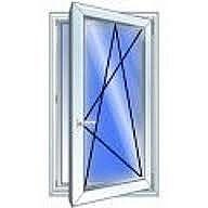 Пластиковые одночастные поворотно-наклонные оконные конструкции Рехау для любых помещений с фурнитурой МАСО и однокамерным стеклопакетом 0,8х1,8 м