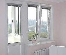 Металлопластиковый балконный блок из профиля Rehau 60