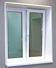 Двухчастное окно с энергосберегающим стеклопакетом