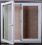 Окна Rehau, двухстворчатые с фурнитурой МАСО