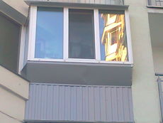Вынос балкона по парапету с наружной отделкой