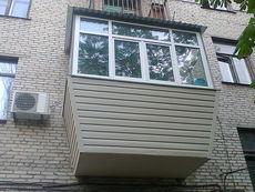 Вынос балкона с отделкой