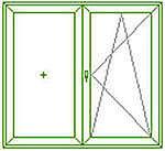 Окно кухонное Rehau с МАСО стандартных размеров