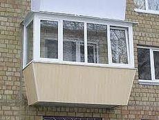 Балкон под ключ с выносом балкона по подоконнику в Киеве дешево