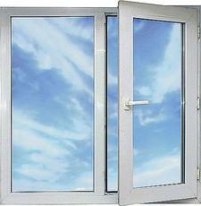 Двухстворчатое окно из профиля Almplast с размерами 1200х1300 Almplast c фурнитурой МАСО.