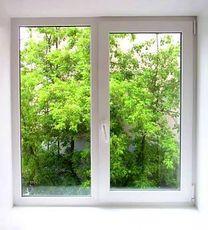 Двухчастное окно из профиля Rehau E 70 с фурнитурой МАСО 900Х1250