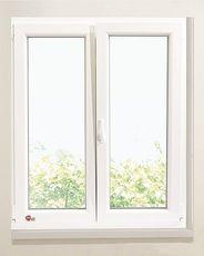 Двухчастное окно из ПВХ Rehau E 70 с фурнитурой МАСО 900Х1400