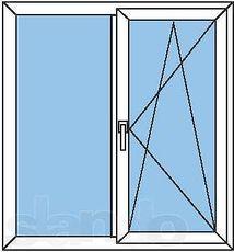 Двухстворчатое окно Rehau 70!