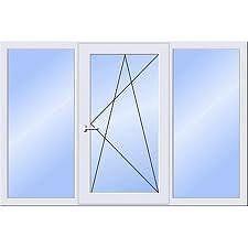 Окно Харьковский массив трехстворчатое в гостинную