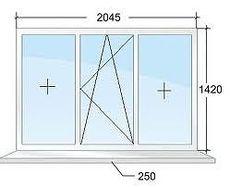 Окно Aluplast 4000 с размерами 1450мм х 1750мм!