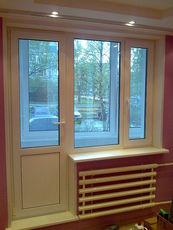 Балконный блок в квартиру, профиль WDS 400, фурнитура Siegenia, стеклопакет двухкамерный