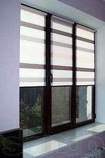 Окно из профильной системы от Фенстер, фурнитура от Сиегения, размер окна - 0,7 х 1,7 м