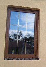 ПВХ окно Salamander для коттеджей с теплым однокамерным стеклопакетом с фурнитурой Сиегения, размер - 0,9 х 1,0 м