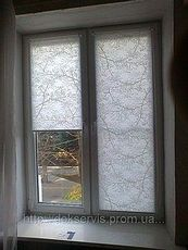 Пластиковое окно Интернова двухчастное поворотно-откидное, фурнитура производства МАСО