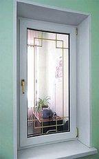 Окно ПВХ Интернова одностворчатое поворотно-откидное для зала, фурнитура производства МАСО