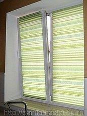 ПВХ окно Саламандер двухчастное поворотное на кухню, размер окна - 1,0 х 1,8 м