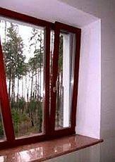Пластиковое окно от Rehau с наружной ламинацией для частного дома